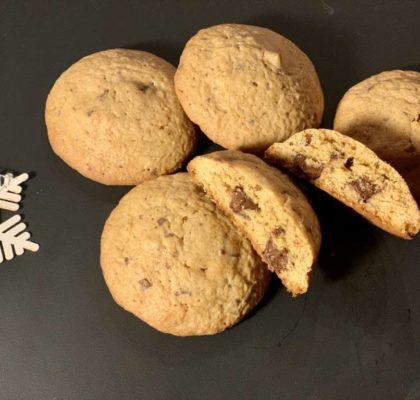 ingefærcookies med sjokolade og ekte ingefær